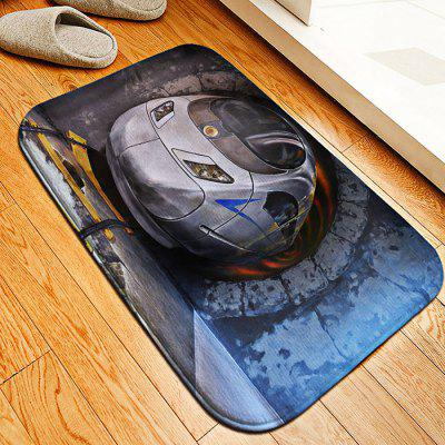 Train Flannel Doormat Rug Mat
