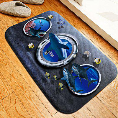 Shark Flannel Doormat Rug Mat
