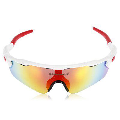Robesbon 5 Replacement Lenses Polarized TAC Cycling GlassesCycling Sunglasses<br>Robesbon 5 Replacement Lenses Polarized TAC Cycling Glasses<br><br>Brand: ROBESBON<br>Features: Polarized lens, Removable Legs, Replaceable Lens, UV400, with Myopic Frame<br>Gender: Unisex<br>Package Contents: 1 x Robesbon Cycling Glasses, 4 x Spare PC Lens, 1 x Spare Nose Pad, 1 x Headband, 1 x Lanyard, 1 x Cleaning Cloth, 1 x Myopia Frame, 1 x Storage Bag, 1 x Box, 1 x Polarized Test Card, 1 x English Use<br>Package Size(L x W x H): 20.00 x 13.00 x 8.00 cm / 7.87 x 5.12 x 3.15 inches<br>Package weight: 0.2270 kg<br>Product Size(L x W x H): 16.00 x 17.00 x 5.00 cm / 6.3 x 6.69 x 1.97 inches<br>Product weight: 0.0330 kg<br>Suitable for: Traveling, Cycling, Hiking