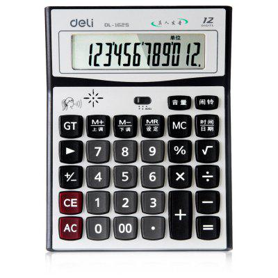 Deli 1625 Talking Calculator 12 Digit Calculating Tool