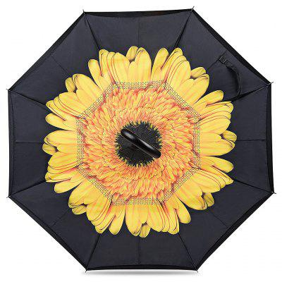 Buy FLOWER Printed Windproof Inverted Umbrella for Car for $18.96 in GearBest store