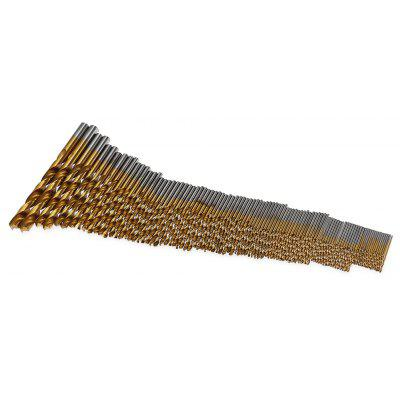 HakkaDeal 99PCS Round Shield HSS 1.5 - 10mm Drills
