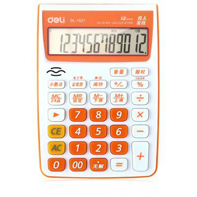Deli 1527 Talking Calculator 12 Calcul Calculateur