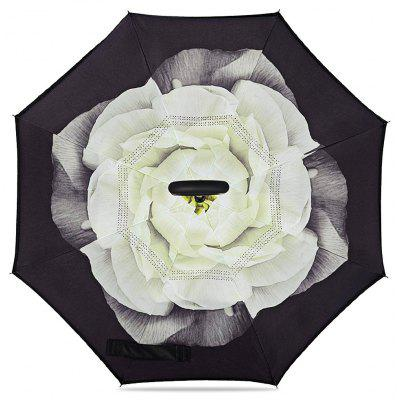 Flower Windproof Inverted Umbrella para carro