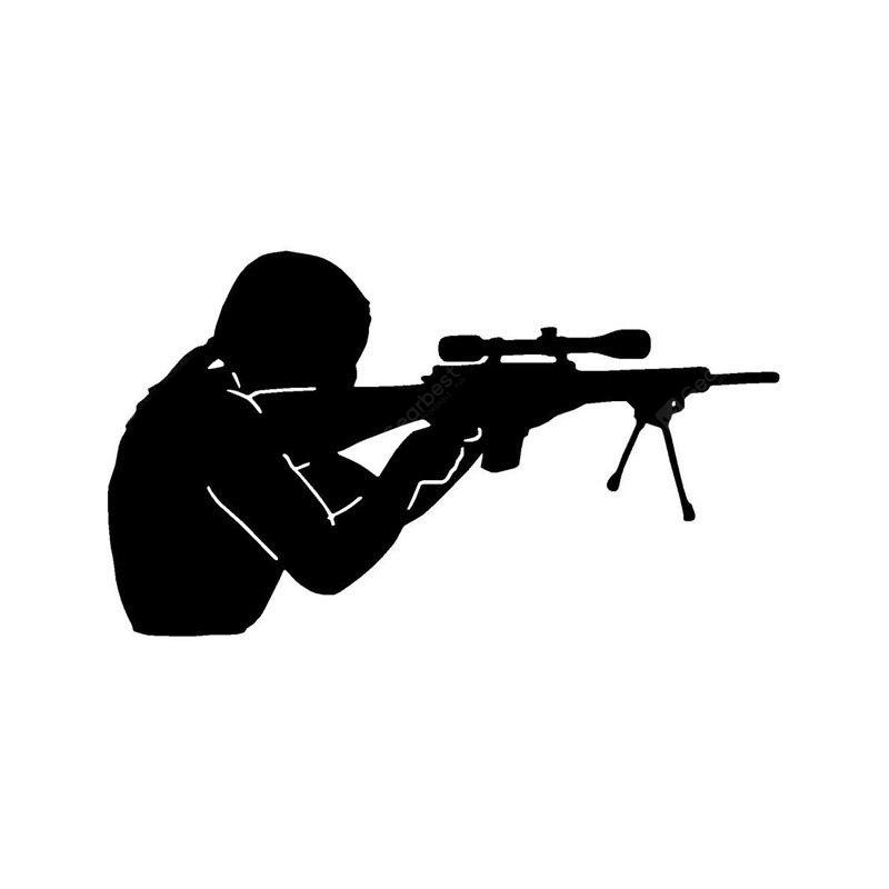 Shooter Shooting Car Sticker