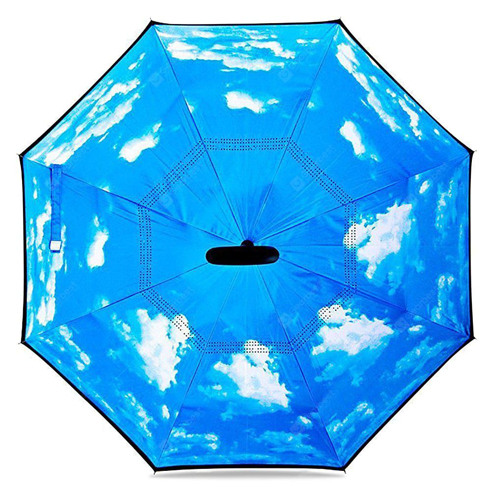 Blue Sky Windproof Inverted Umbrella for Car