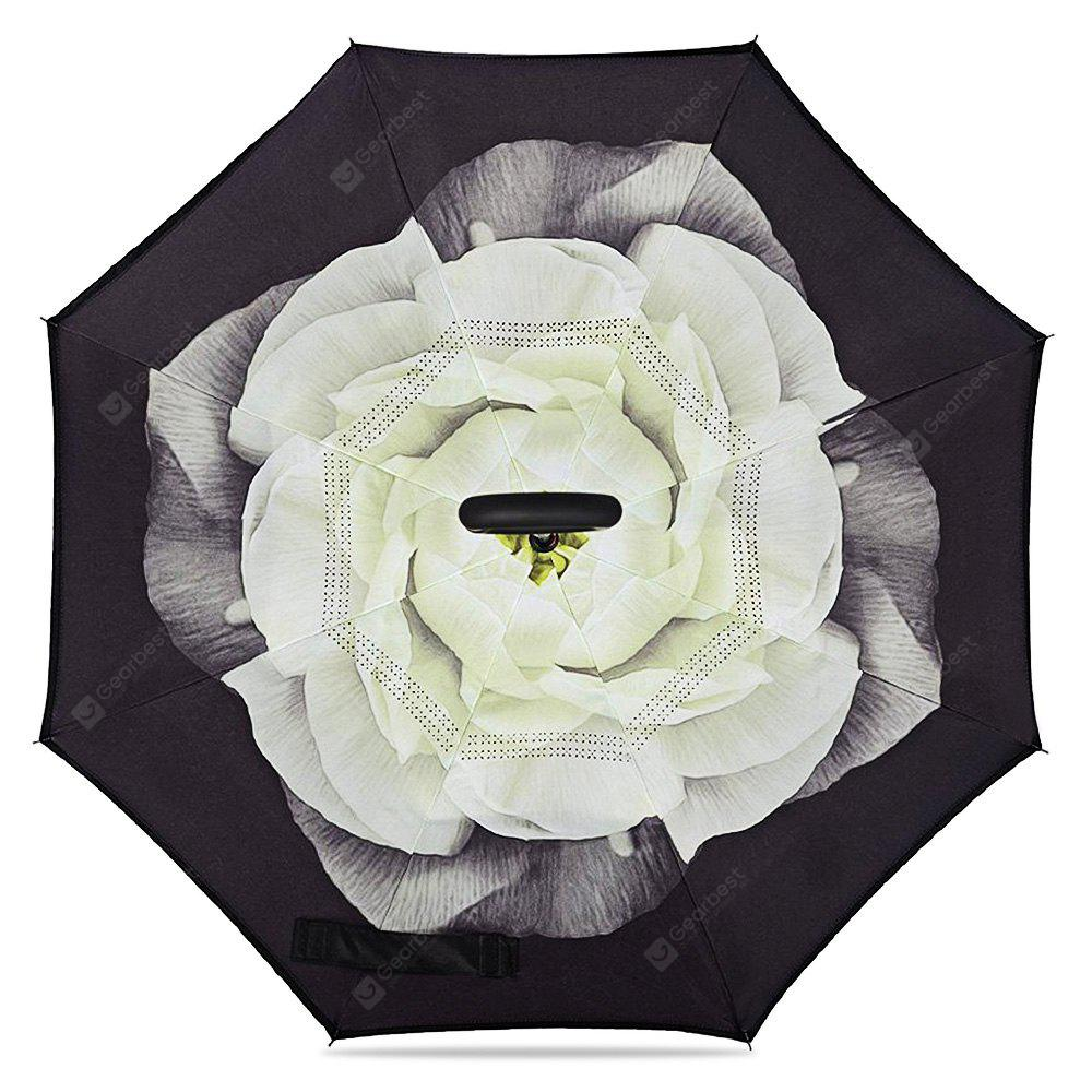 COLORMIX Flower Windproof Inverted Umbrella for Car