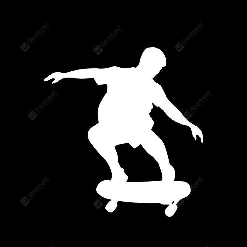 Cool Car Decoration Decal Skateboarding Pattern