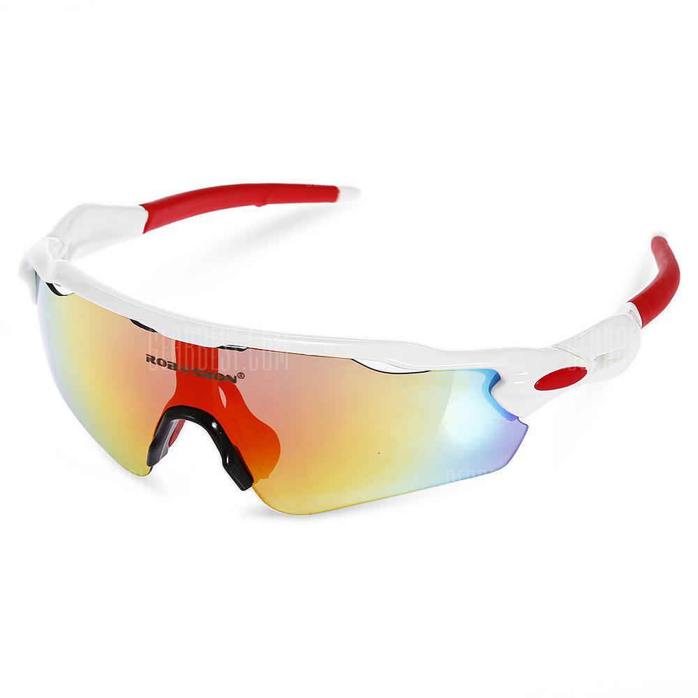 Robesbon 5 Replacement Lenses Polarized TAC Cycling Glasses