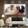 Indian Printed  Canvas Print Unframed Wall Art - BROWN