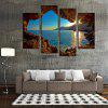 4PCS Sunset Printing  Canvas Print Unframed Wall Art - COLORMIX