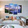 4PCS Waterfall Printing Canvas Print Unframed Wall Art - COLORMIX