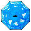 Blue Sky Windproof Inverted Umbrella para carro - AZUL