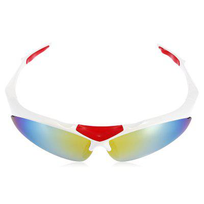 Robesbon 5 Replaceable Lenses Polarized Cycling GlassesCycling Sunglasses<br>Robesbon 5 Replaceable Lenses Polarized Cycling Glasses<br><br>Brand: ROBESBON<br>Features: Replaceable Lens, UV400, with Myopic Frame<br>Gender: Unisex<br>Package Contents: 1 x Robesbon 0091 Cycling Glasses, 4 x Pairs of Spare PC Lens, 1 x Lanyard, 1 x Cleaning Cloth, 1 x Myopia Frame, 1 x Storage Bag, 1 x Box, 1 x English User Manual<br>Package Size(L x W x H): 20.00 x 13.00 x 8.00 cm / 7.87 x 5.12 x 3.15 inches<br>Package weight: 0.2150 kg<br>Product Size(L x W x H): 16.00 x 16.50 x 4.50 cm / 6.3 x 6.5 x 1.77 inches<br>Product weight: 0.0240 kg<br>Suitable for: Hiking, Cycling, Traveling