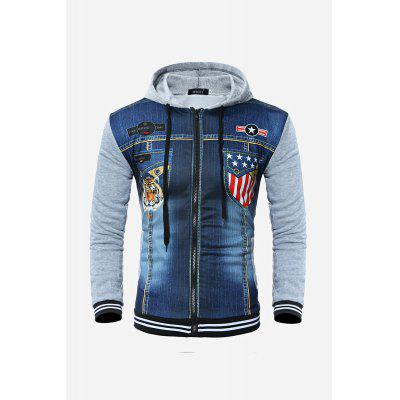 Men Hooded 3D Jacket