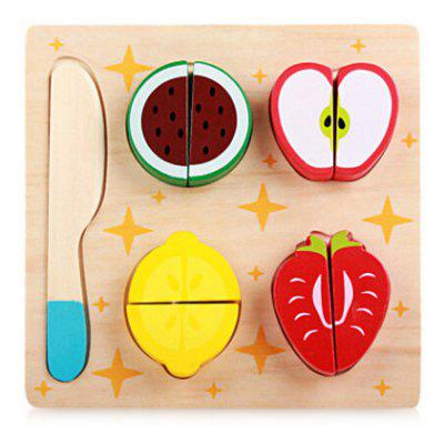 Wooden Cutting Food Toy Set