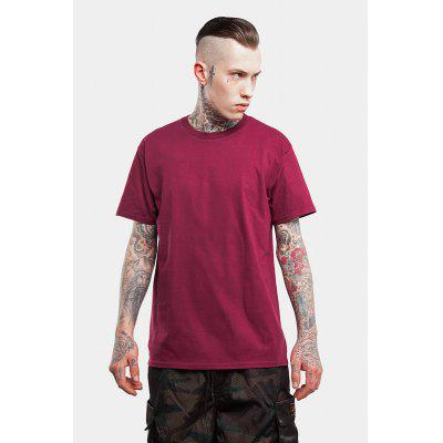 Seamless Round Neck 100 Cotton T-shirt for Men