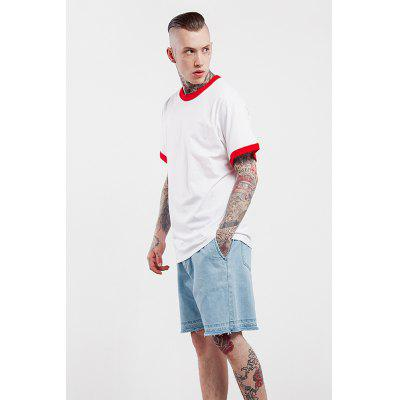 Color Spliced 100 Cotton T-shirt for MenMens Short Sleeve Tees<br>Color Spliced 100 Cotton T-shirt for Men<br><br>Material: Cotton<br>Neckline: Round Collar<br>Package Content: 1 x T-shirt<br>Package size: 30.00 x 35.00 x 0.50 cm / 11.81 x 13.78 x 0.2 inches<br>Package weight: 0.2500 kg<br>Pattern Type: Solid<br>Product weight: 0.2000 kg<br>Season: Summer<br>Sleeve Length: Short Sleeves<br>Style: Casual