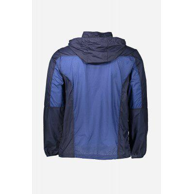 Ultralight Breathable Meshed Men JacketMens Jackets &amp; Coats<br>Ultralight Breathable Meshed Men Jacket<br><br>Closure Type: Zipper<br>Clothes Type: Jackets<br>Collar: Hooded<br>Embellishment: Zippers<br>Materials: Chinlon<br>Package Content: 1 x Symmetric Patchwork Outdoor Jacket<br>Package Dimension: 28.00 x 33.00 x 3.00 cm / 11.02 x 12.99 x 1.18 inches<br>Package weight: 0.1740 kg<br>Pattern Type: Patchwork<br>Product weight: 0.1360 kg<br>Seasons: Autumn,Spring,Summer<br>Shirt Length: Regular<br>Sleeve Length: Long Sleeves<br>Style: Fashion, Casual<br>Thickness: Thin