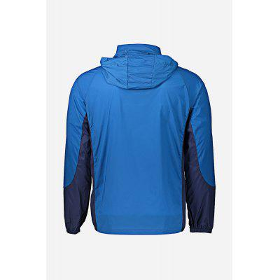 Ultralight Outdoor Hooded Men JacketMens Jackets &amp; Coats<br>Ultralight Outdoor Hooded Men Jacket<br><br>Closure Type: Zipper<br>Clothes Type: Jackets<br>Collar: Stand-Up Collar<br>Embellishment: Zippers<br>Materials: Chinlon, Spandex<br>Package Content: 1 x Three-tone Patchwork Hooded Jacket<br>Package Dimension: 28.00 x 33.00 x 3.00 cm / 11.02 x 12.99 x 1.18 inches<br>Package weight: 0.1920 kg<br>Pattern Type: Patchwork<br>Product weight: 0.1540 kg<br>Seasons: Autumn,Spring,Summer<br>Shirt Length: Regular<br>Sleeve Length: Long Sleeves<br>Style: Casual, Fashion<br>Thickness: Thin