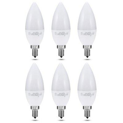 Buy WARM WHITE LIGHT 6PCS YouOKlight E12 10 LEDs Candle Bulb for $15.73 in GearBest store