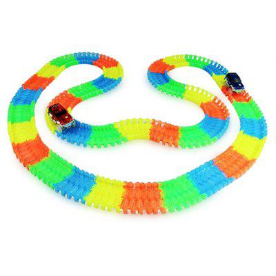 165 sztuk DIY ABS luminous 3D Car Racing Track