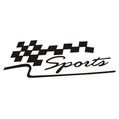 SPORT Race Flag Car Sticker