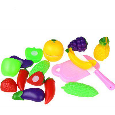 11pcs Vegetable Fruit Cutting Pretend Play Toy