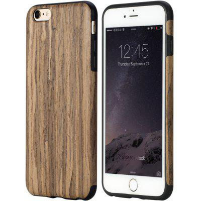 Wood Grain TPU Phone Back Case