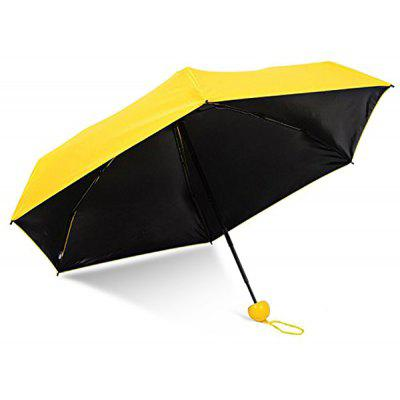 Buy YELLOW Mini Anti-UV Folding Capsule Umbrella with Cute Case for $15.16 in GearBest store