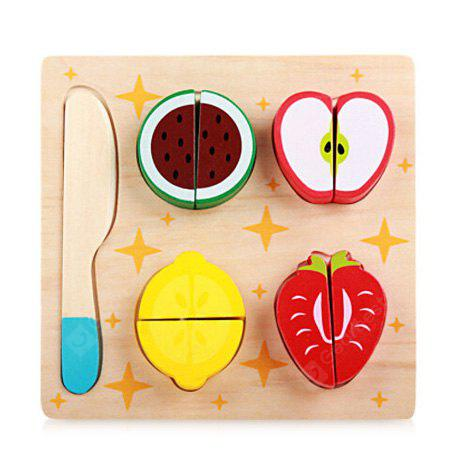 Buy Wooden Cutting Food Toy Set COLORMIX