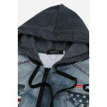 Men Fashion Hooded Sweater - DEEP GRAY