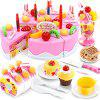 75pcs Cutting Birthday Cake Pretend Play Tool - PINK