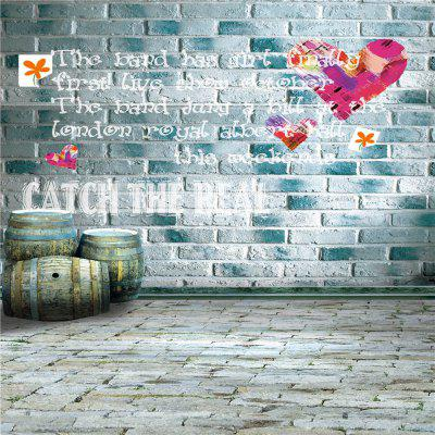 Silk Wall with Graffiti Photography Background Cloth