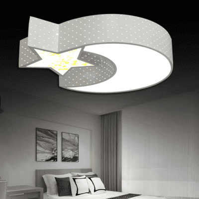 LED 24W Modern Cartoon Star + Moon Ceiling Light 220V