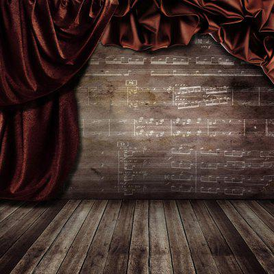 Wood Floors with Notes Photography Background Cloth