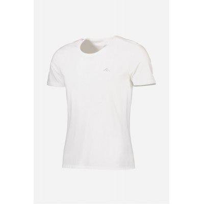Breathable Men Summer Cotton T-shirt with Round Collar