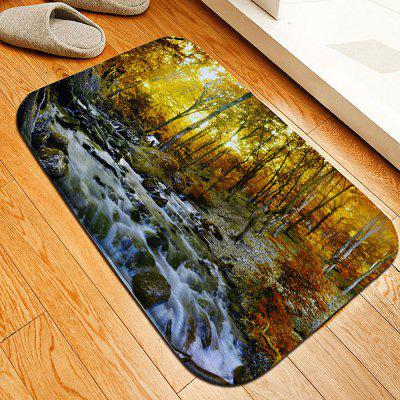 Autumn Forest Flannel Doormat Rug Mat