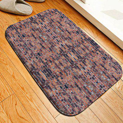 Red Brick Flannel Doormat Rug Mat