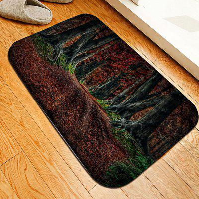 Wood Flannel Doormat Rug Mat