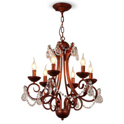 LightMyself YQ1018 - 6 Crystal Chandelier