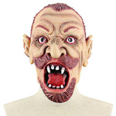 Crazy Red Beard Zombie Mask