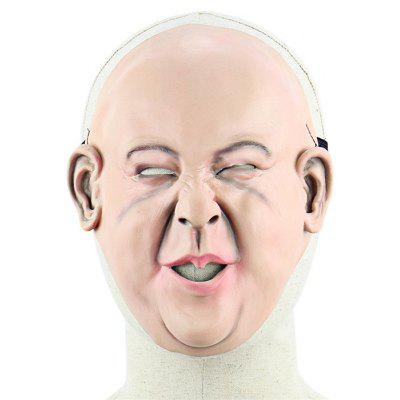 Bald Sour-faced Latex Mask