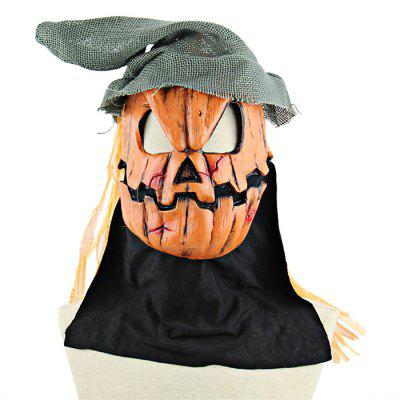 Pumpkin Scarecrow Latex Mask