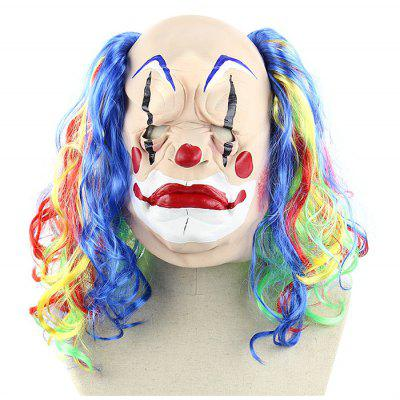 Curly Hair Clown Latex Mask