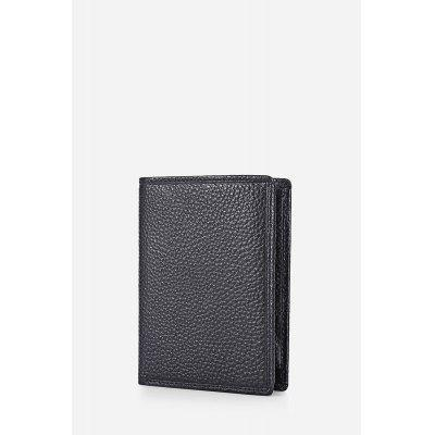 Textured-leather FRID Protection Billfold Men Wallet