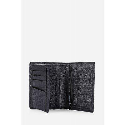 цена  Textured-leather FRID Protection Billfold Men Wallet  онлайн в 2017 году