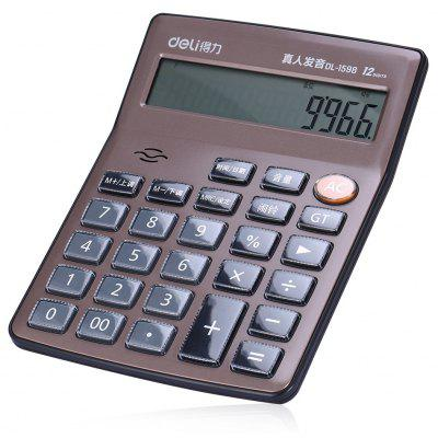Deli 1598 12-digit Talking Calculator