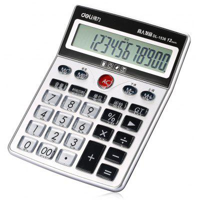 Deli 1536 12bit Number Talking Calculator