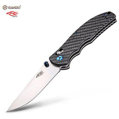 Buy BLACK GANZO Firebird F7501 CF Pocket Axis Lock Folding Knife for $15.99 in GearBest store